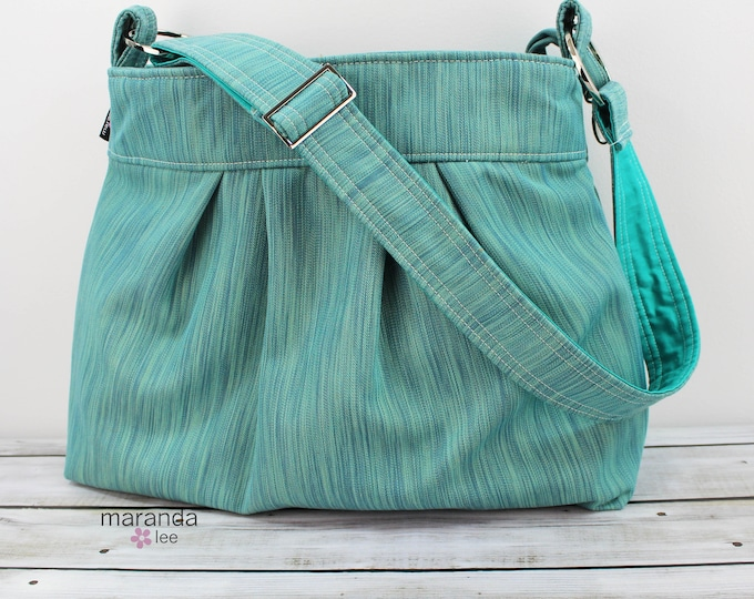 Emma Bag Large Teal DenimREADY to SHIP