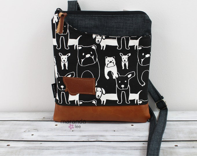 ZOE Messenger Black Dogs READY to SHIp