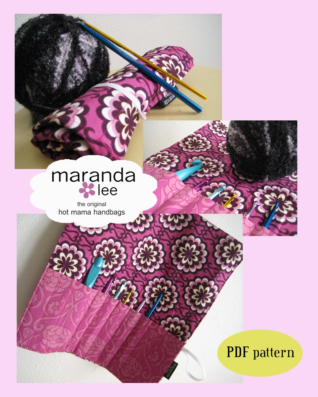 Crochet Hook Roll Pattern Pdf Crochet Hook Case Clutch Sewing