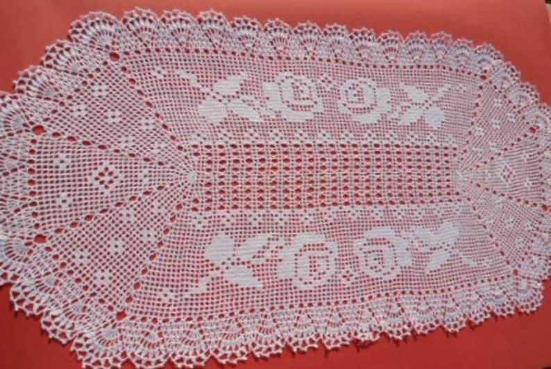c8f5e77ac35c3b Ovale gehaakt kleedje witte ovale tafel topper lace