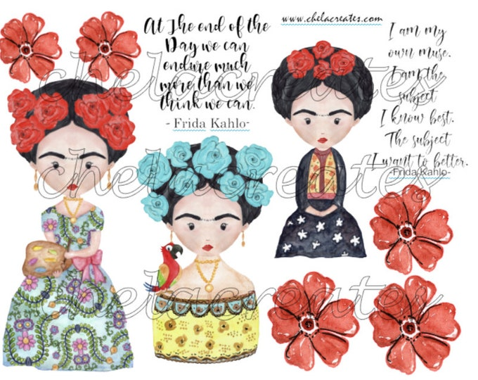 Featured listing image: Frida Kahlo Printable