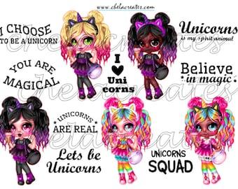 Unicorn Cutie Printable