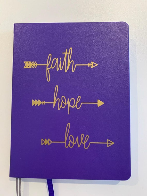 Faith Hope Love Dotted Journal