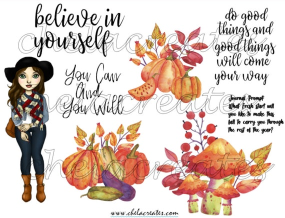Fall Do Good Things Printable with Journal Prompt