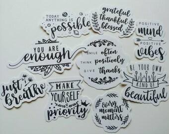 Just Breathe Sticker Die Cut  Quotes