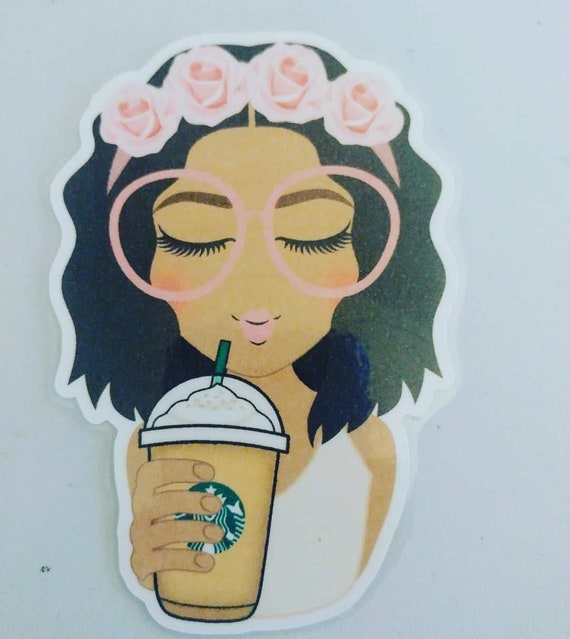 Fappuccino Girl Laminated Die Cut