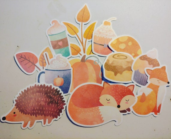 Fall Shimmer Die Cuts