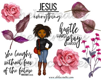 Single Diva Scripture Writing kit PRINTABLE