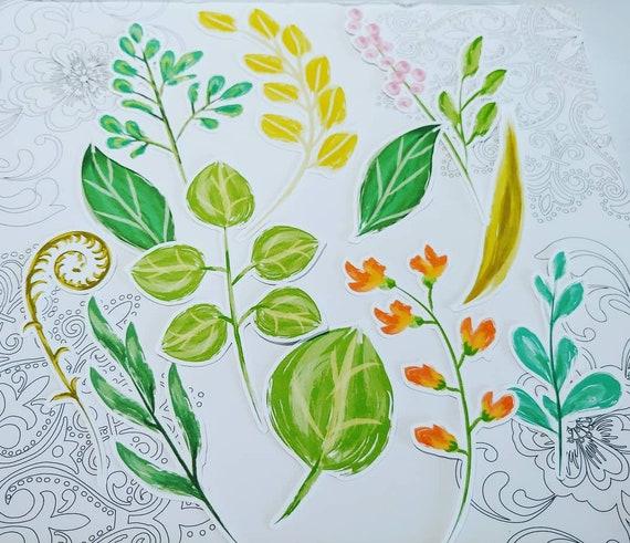 Brush Paint Leaves