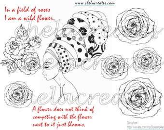In a field of Flowers Printable