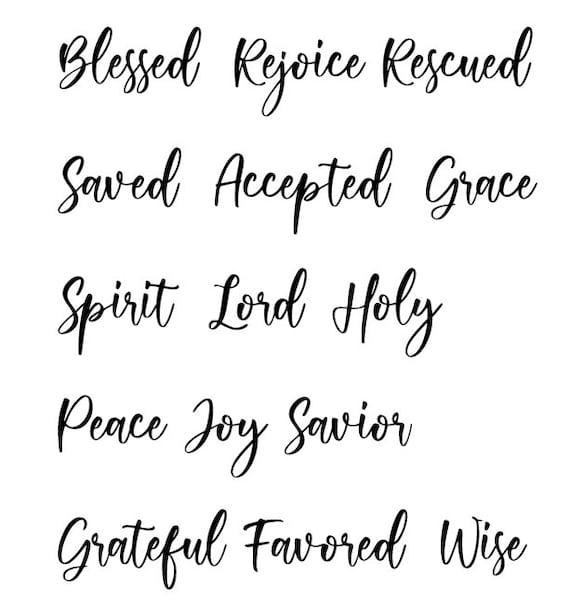 Faithful Vision Words....Printable