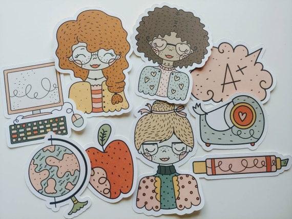 A+ Teacher Die Cut Stickers