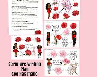 God has Made Us New ....Single Diva Scripture Writing Plan #2 DARK SKIN