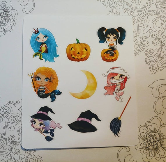 Spooky Mermaid Mini Sticker Sheet