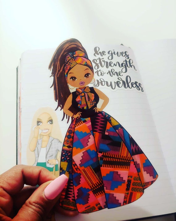 Laminated Kente Doll