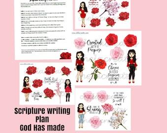 God has Made Us New ....Single Diva Scripture Writing Plan #2 LIGHT SKIN