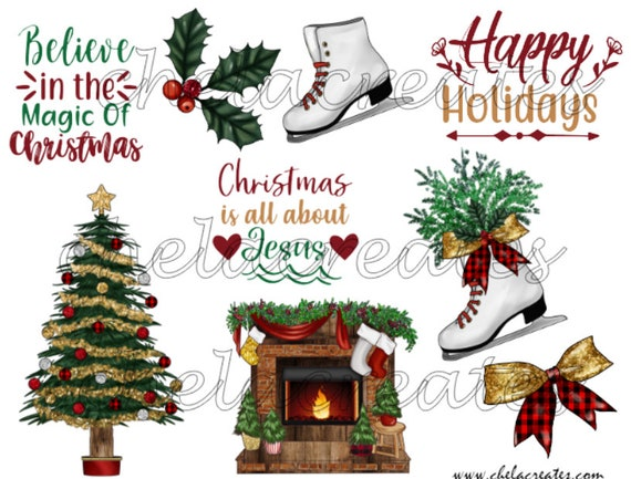 Happy Holidays Printable  Kit