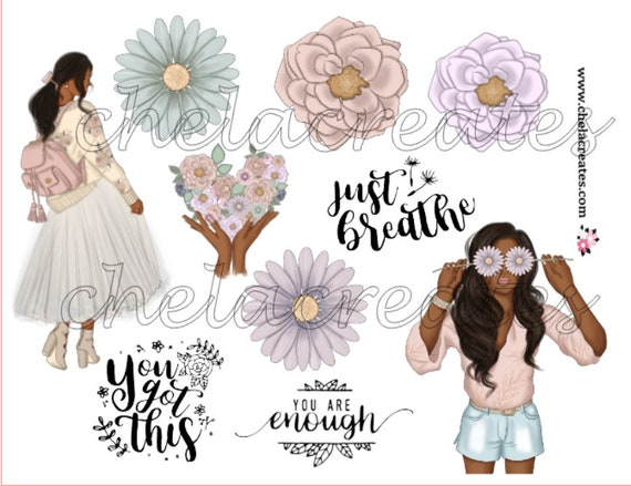 Just Breathe Spring Flowers Digital Download