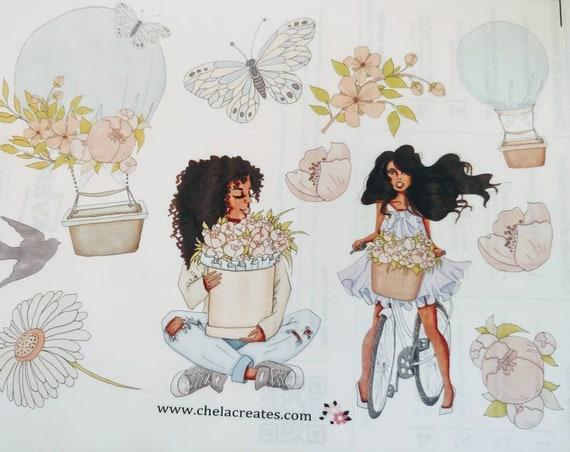 Full Sheet Clear Flower Picking