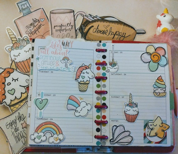 Unicorns and Rainbow Stickers