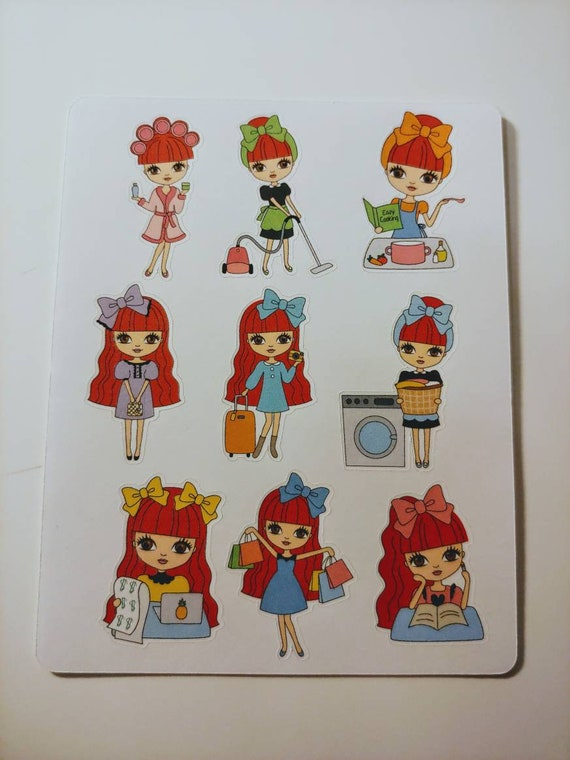 Red Head Belle Mini sticker