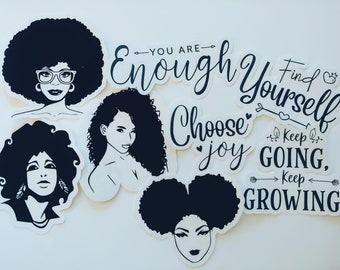 You are ENOUGH Die Cut Sticker set