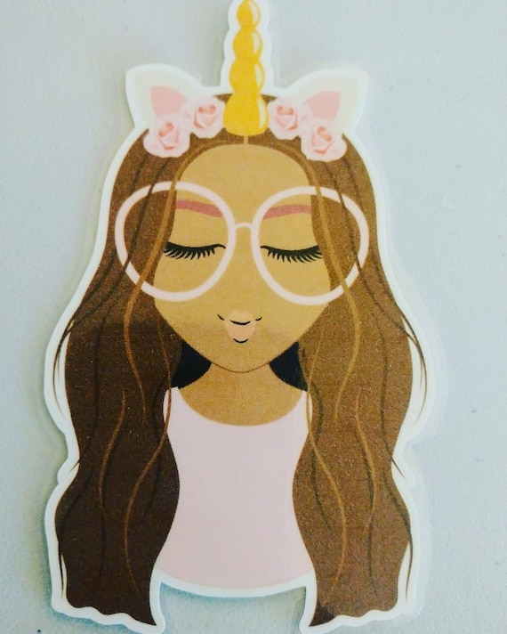 Uni Girl laminated Die Cut