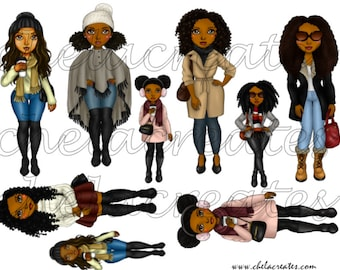 Winter Dolls Printable