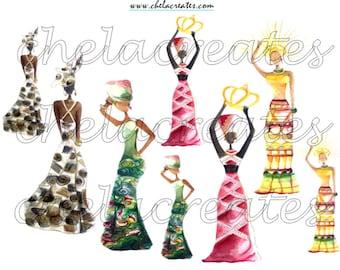 African Queen Art Kit PRINTABLE