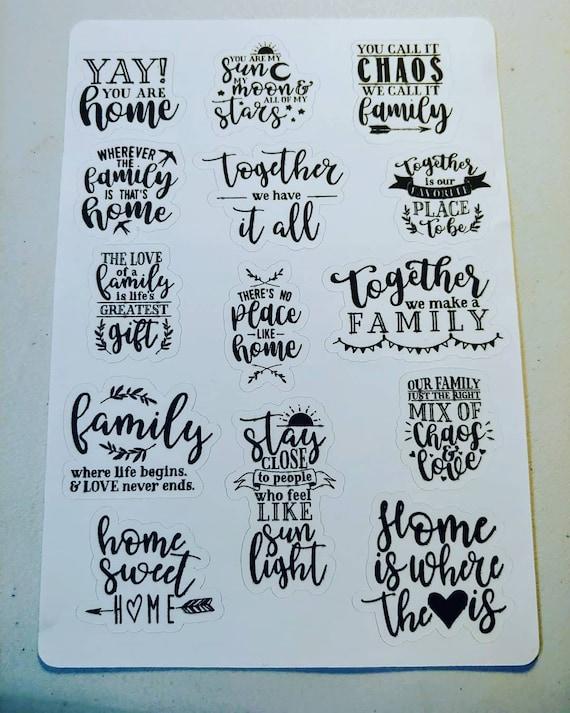 Family is Love mini sticker sheet