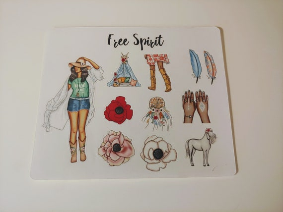 Free Spirit Sticker Sheet
