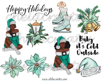 Mint Christmas and  FREE Journaling Prompts....PRINTABLES