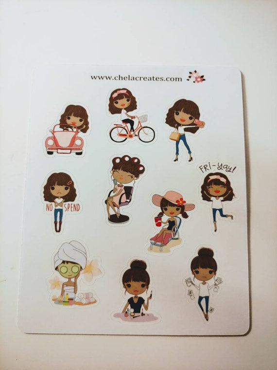 Tiffany living life mini sticker sheet