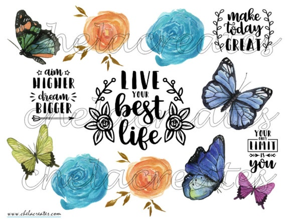 Live Your Best Life Butterfly Printable