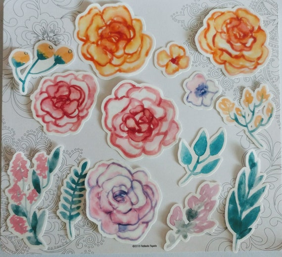 Clear Water Color Flowers
