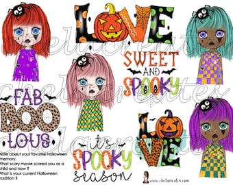 Sweet and Spooky .......Printable