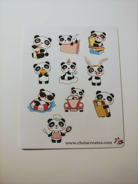 Busy Panada mini sticker sheet