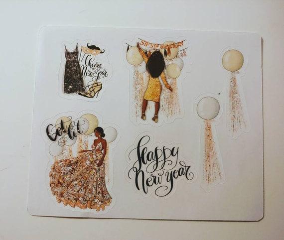 New Year mini sticker set
