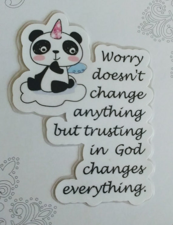 Panda Don't Worry laminated