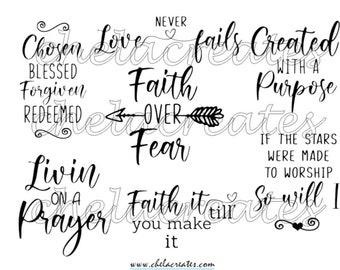 Faith Over Fear Quote PRINTABLE