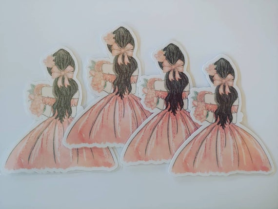 Rose Shimmer Laminated Doll #2