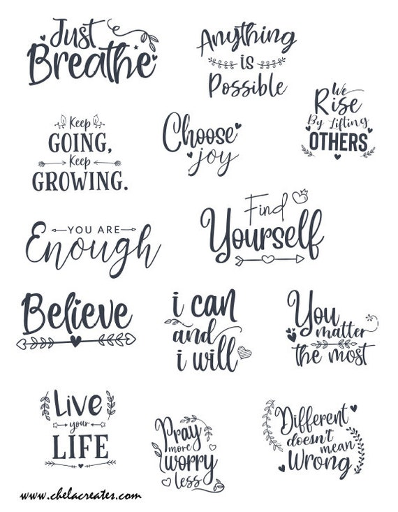 I Can and I will Quotes....Printable