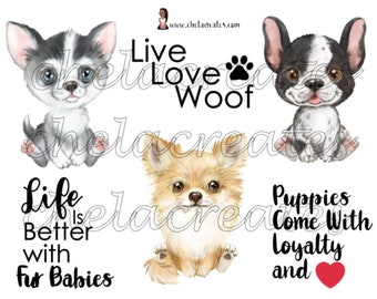 Puppy Love Printable.... 2 pages