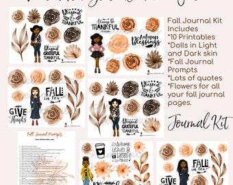 Fall.....Always Be Thankful Journal Kit.... Light and Dark Skin