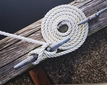 Nautical Rope Dock print on aluminum