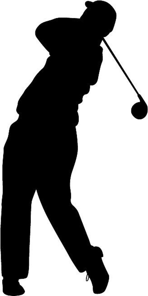 Golf Silhouette Die Cut Vinyl Decal Sticker You Pick Color Etsy