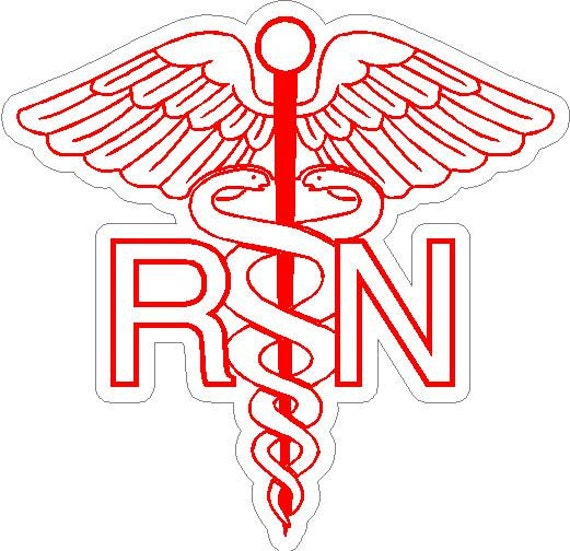 6 Rn Registered Nurse Caduceus Snake Medical Symbol Etsy