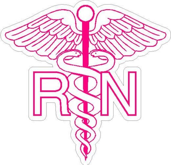 6 Rn Registered Nurse Caduceus Snake Medical Symbol Etsy