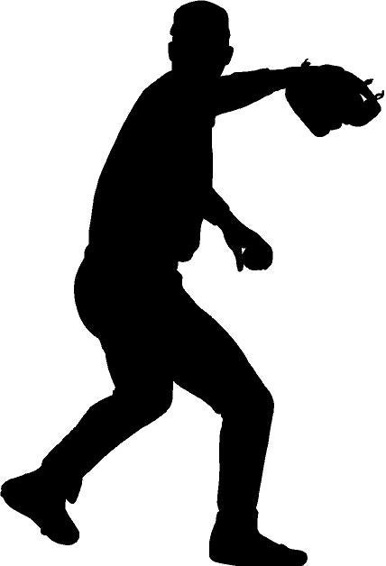 baseball pitcher fastball silhouette die cut vinyl decal etsy