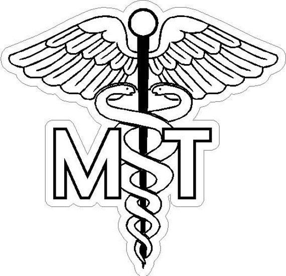 6 Mt Medical Technician Caduceus Snake Medical Symbol Etsy